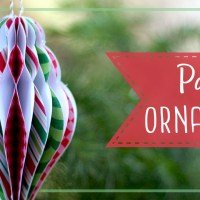Paper Honeycomb Christmas Ornament Tutorial