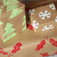 DIY Custom Wrapping Paper & DIY Stamps