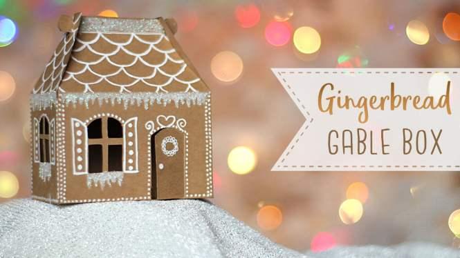 Mini Gingerbread House Gable Box Tutorial