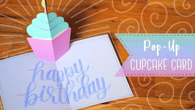 Easy Pop-up Birthday Cupcake Card Tutorial
