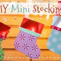 Mini Paper Christmas Stockings