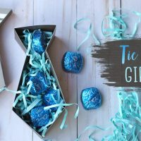 Tie Shaped Paper Gift Box Tutorial for Father's Day!