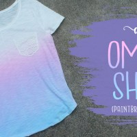 DIY Ombre Dye Shirt With 2 Colors! (Paintbrush Method)