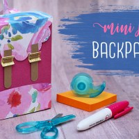 Paper Backpack Gift Box Tutorial  🍎 Teacher Gift Idea