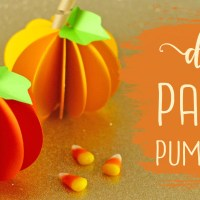 DIY Paper Pumpkin Tutorial (Easy) + Free SVG File!