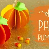 DIY Paper Pumpkin Tutorial (Easy) + Free SVG File!