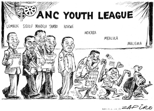 Julius Malema, Fikile Mbalula, Nelson Mandela, Walter