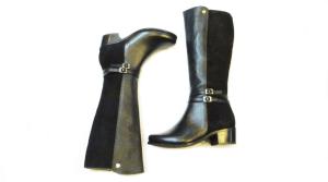 botas cuero negro