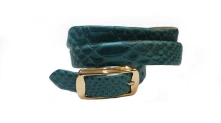 Detalle del cinturón de cuero