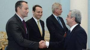 Armênia recebe delegação europeia