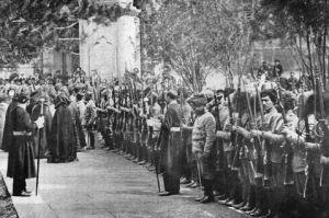 Soldados armênios em Etchmiadzin