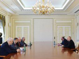 Reunião do Grupo Minsk da OSCE com o Presidente Aliyev do Azerbaijão (Foto: Gabinete do Presidente do Azerbaijão)