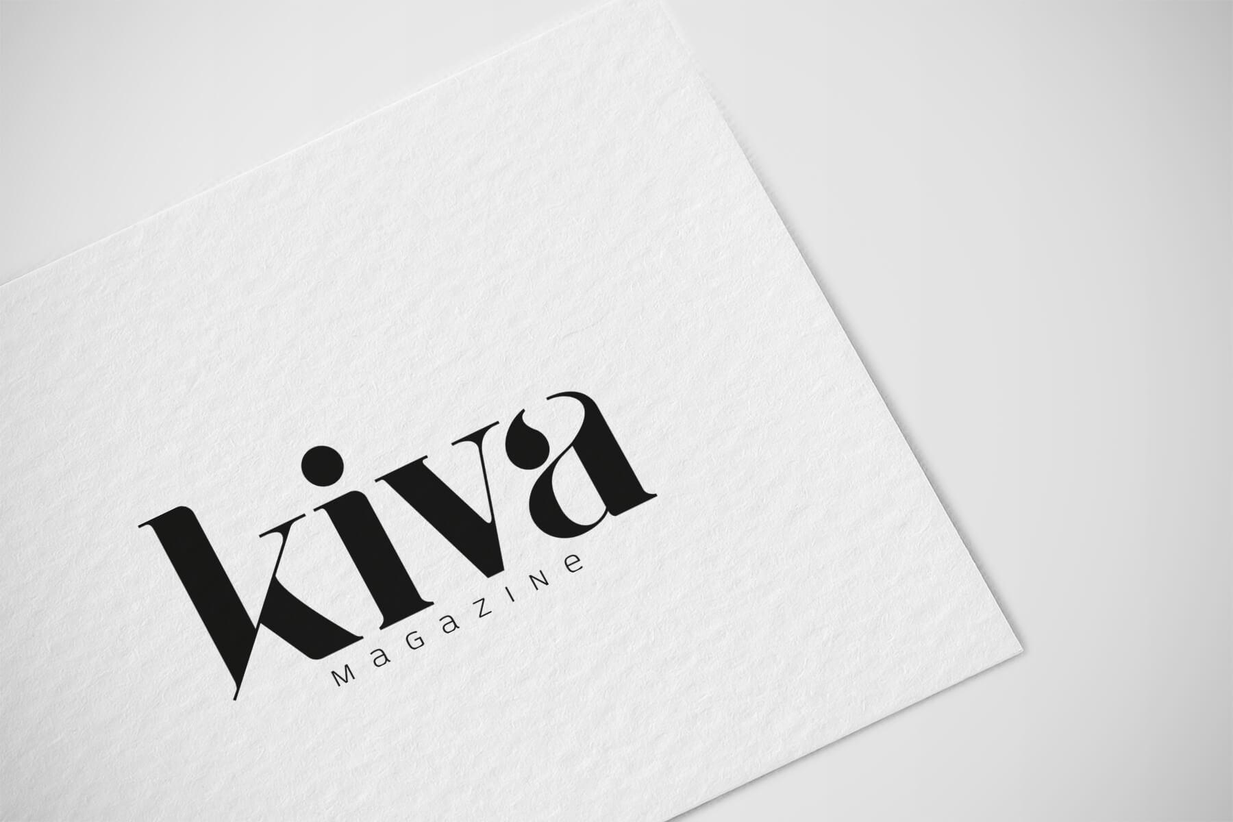 Logo Kiva magazine, revista digital