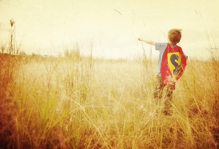 Superhéroe, funky photography