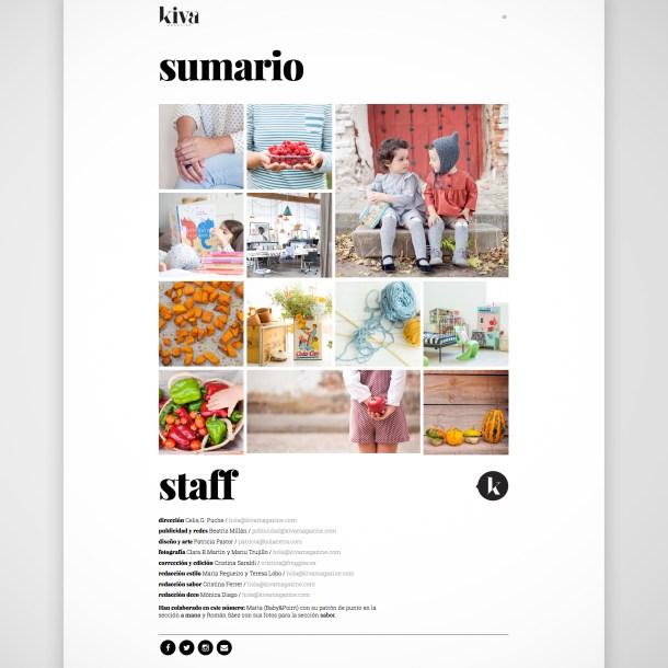 Diseño web Kiva magazine, revista digital
