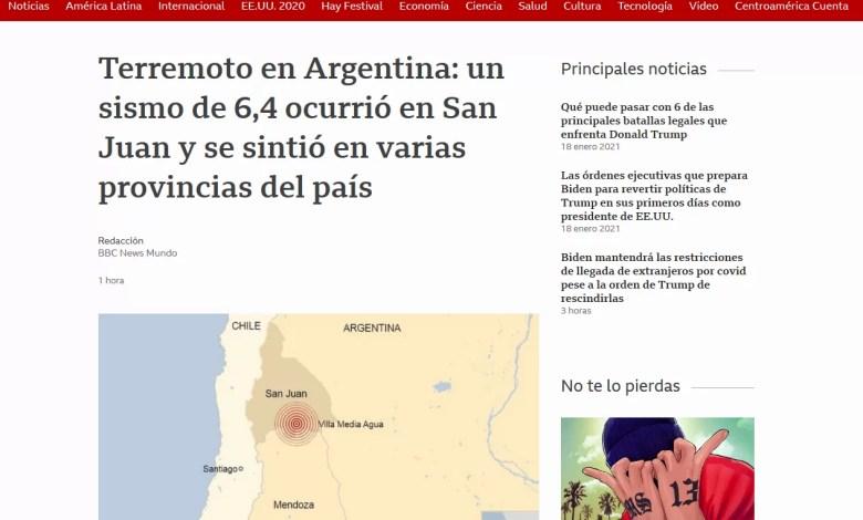Photo of El terremoto en los principales titulares del país y del mundo