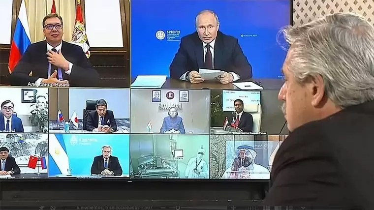 Photo of Alberto y Putin anunciaron la producción local de Sputnik V