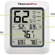 Los mejores termómetros higrómetros para casa 2017. Medidores de humedad y temperatura.
