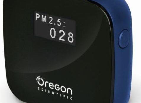 Medidor de contaminación Oregon Scientific She101 Smart Air Monitor.