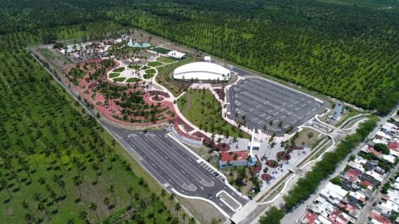 Vista aérea del Parque Metropolitano de Tecomán (Foto: Seidur)