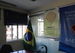 nova sede Saerrgs - bandeira cartaz