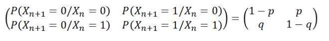matriz de transición