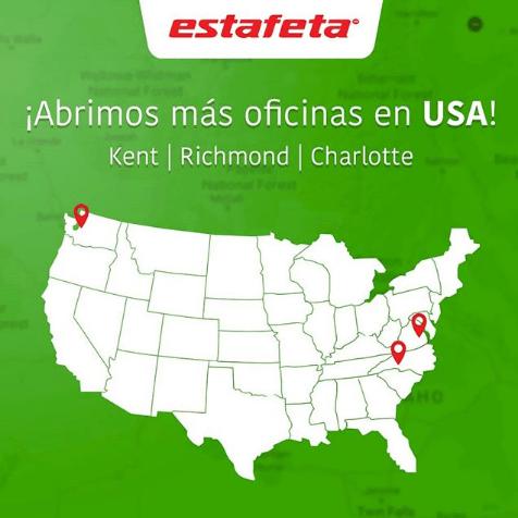 Nuestras Oficinas Estafeta en USA siguen creciendo para atenderte mejor