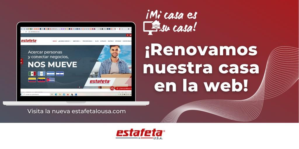 Nueva página WebEstafeta USA en español