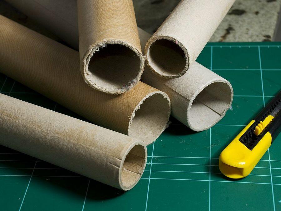5 trabajos que puedes hacer con tubos de cartn  Bricolaje