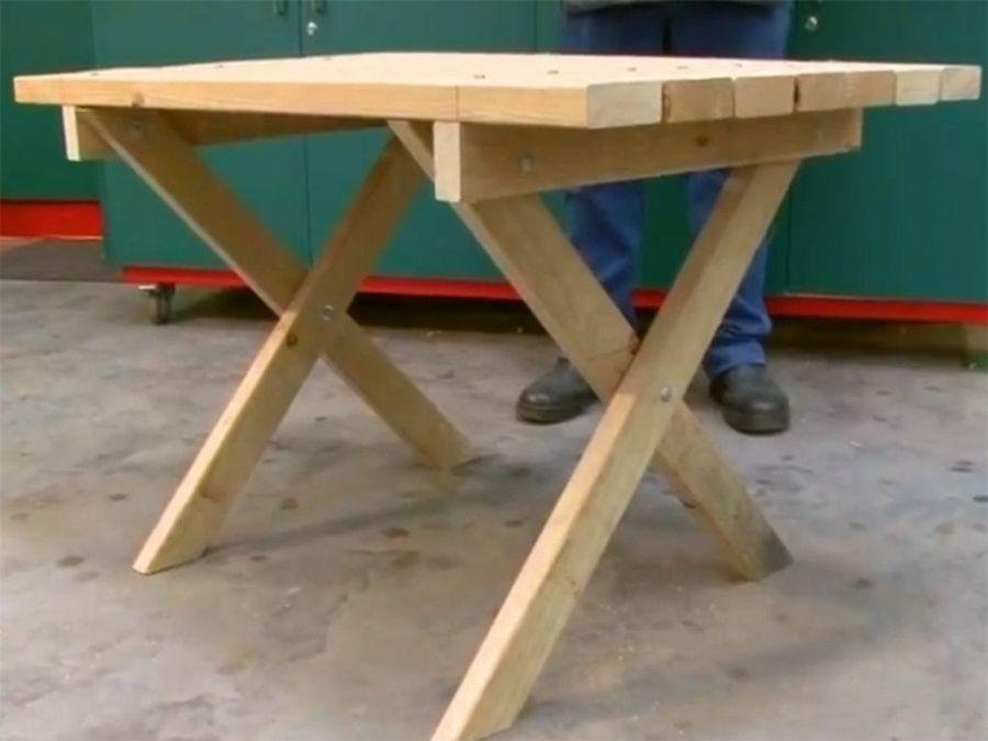 Cmo hacer una mesa plegable decorativa  Bricolaje