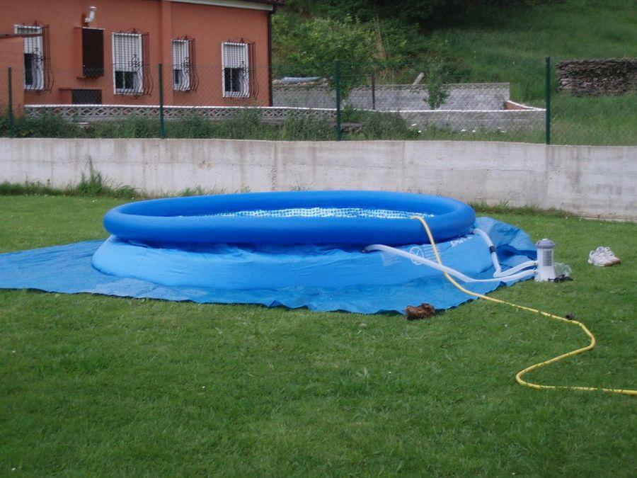 Instalar una piscina hinchable  Bricolaje