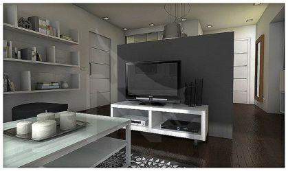 Una casa de 55 m2 en color gris Decoración