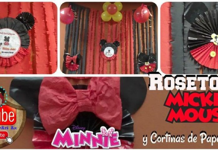 Ideas Para Una Mesa Dulce De Minnie Y Mickey Mouse Manualidades