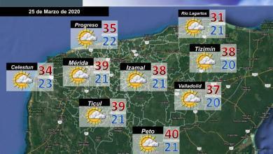 Foto de Pronóstico del tiempo en Yucatán para este miércoles 25 de Marzo