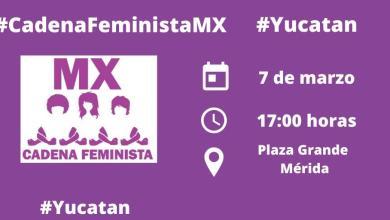 Foto de Cadena feminista en Plaza Grande