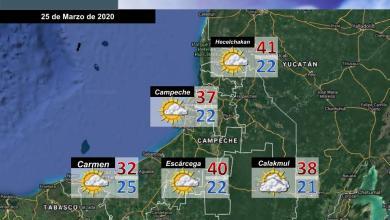 Foto de Pronóstico del tiempo en Campeche para este miércoles 25 de Marzo