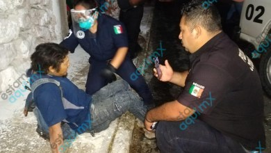 Foto de Fractura expuesta sufre motociclista al derrapar