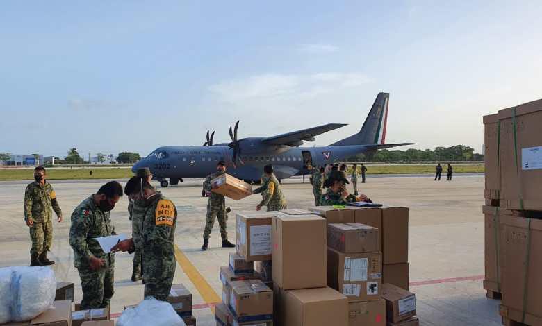 Foto de Arriban a Quintana Roo tres toneladas de medicamentos y equipo para atender la COVID-19 en Cancún, Chetumal y Tulum