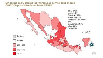 Foto de Acumula México 15,447 casos de mujeres embarazadas con Covid 19