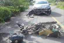 Foto de Motociclista entre la vida y la muerte, atropellado por una mujer en la Cholul – Tixcuytún