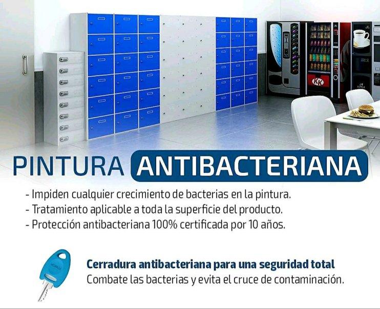 Taquillas antibacterias