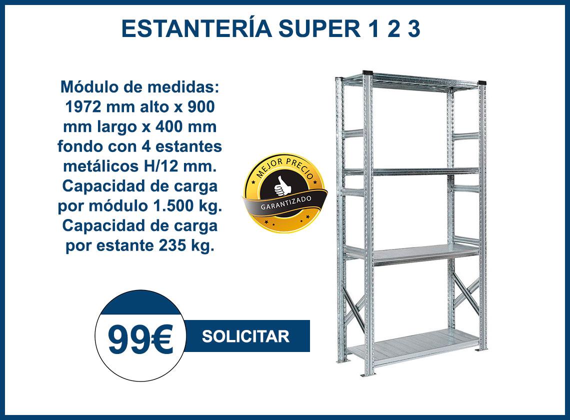 Oferta de Estantería Ligera Super 1 2 3