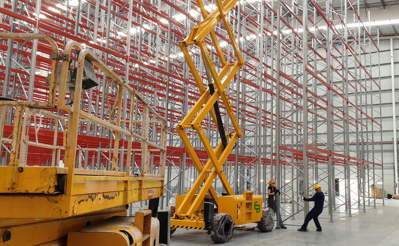 Montaje de estanterías industriales