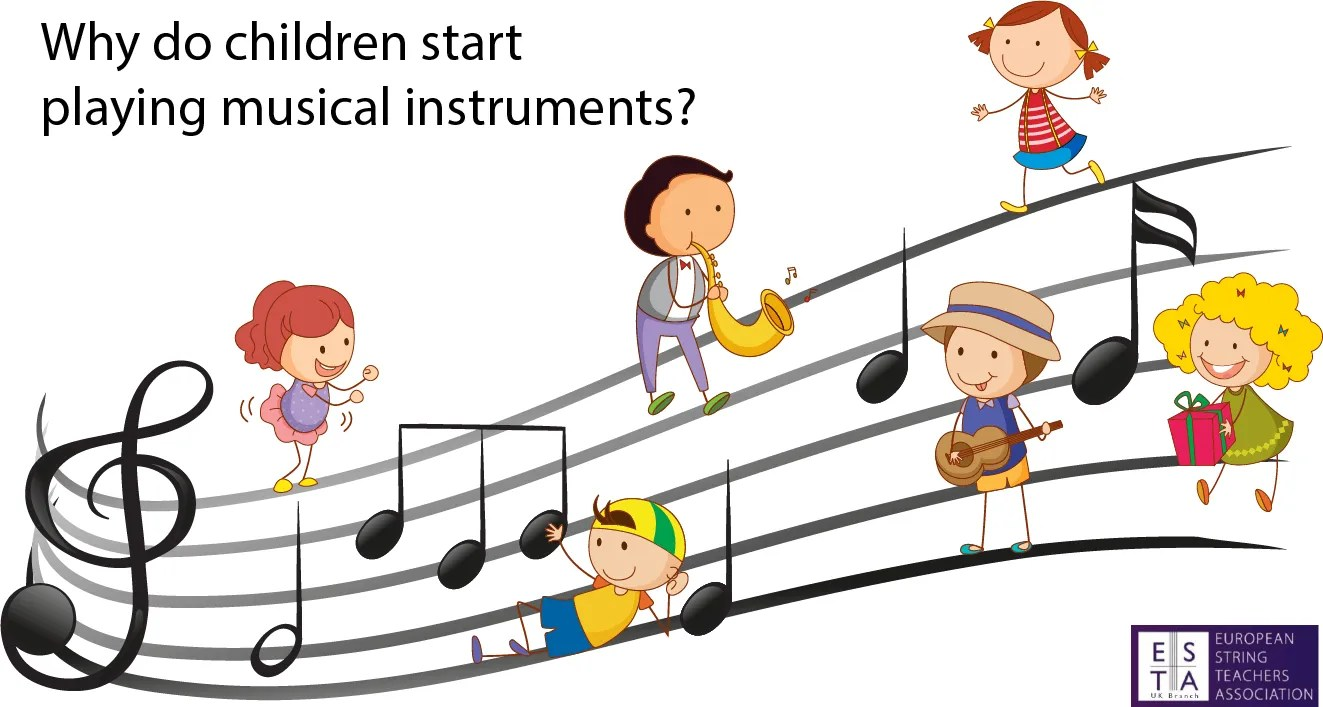 Why do children start playing musical instruments?