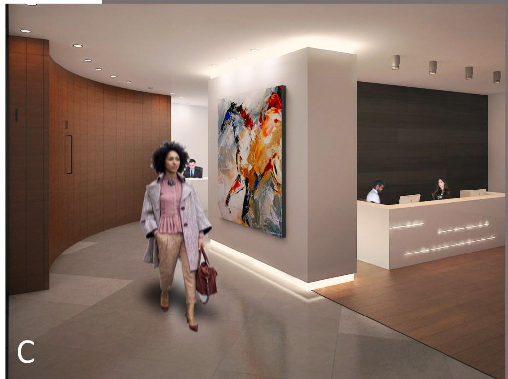 CGI picture of Claudia Multiplex office space