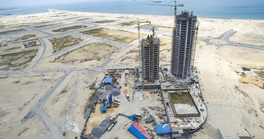 Eko Pearl Towers, Eko Atlantic, Lagos - March 2016. Image Source: ekoatlantic.com