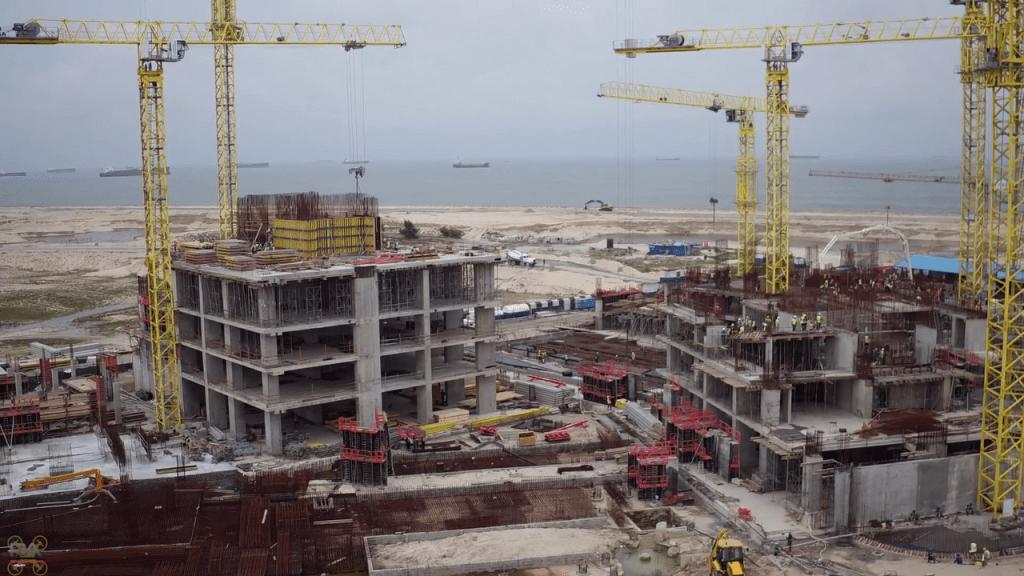 July 2017. Development: The Azuri Peninsula, Eko Atlantic - Lagos. Image Source: Hakon - Skyscrapercity