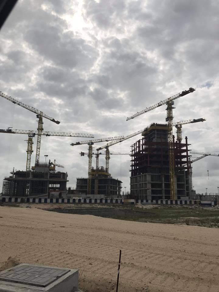 September 2017. Development: The Azuri Peninsula, Eko Atlantic - Lagos. Image Source: Udo Okonjo & Ben Lam - Skyscrapercity