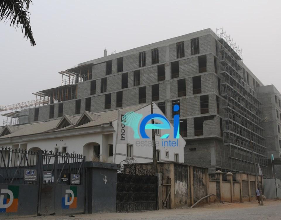 December 2016 - Marriott Hotel, Ikeja GRA (View from Oba Aladejobi Street).