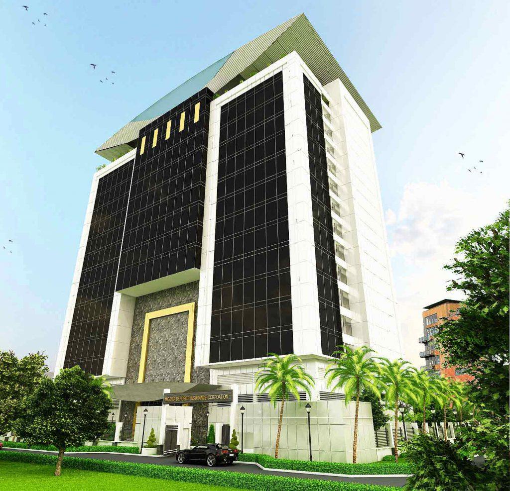 Development: NDIC Head Office, Glover Road, Ikoyi - Lagos. Image Source: Interstate Architects.